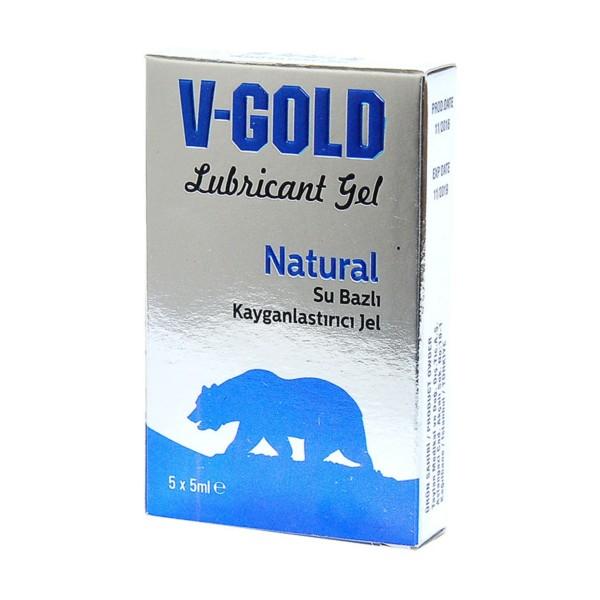 V-Gold Natural Lubricant Gel 5x5 ml.