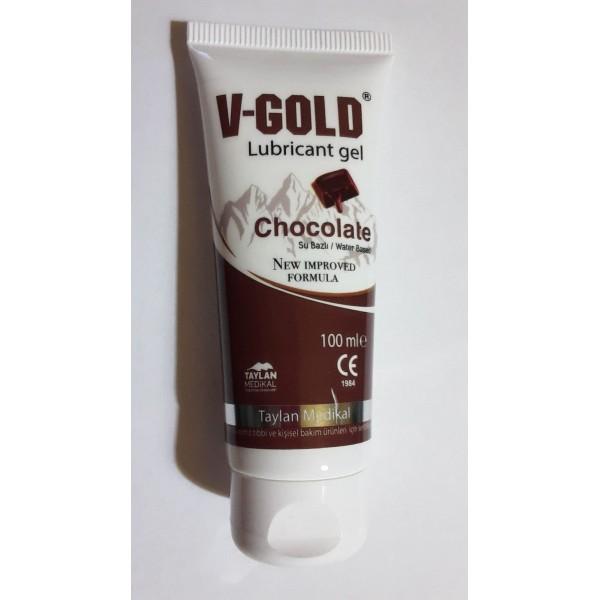V-Gold Lubricant Gel Chocolate 100ml